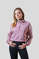 Трикотажная женская свободная кофта р-р 42-48(xs-l),грязно-розовый
