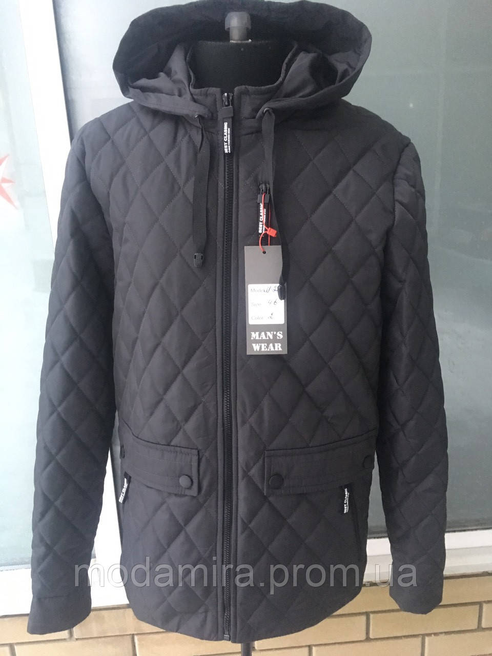 Мужская весенняя стеганая куртка р-46 3f21791731a78