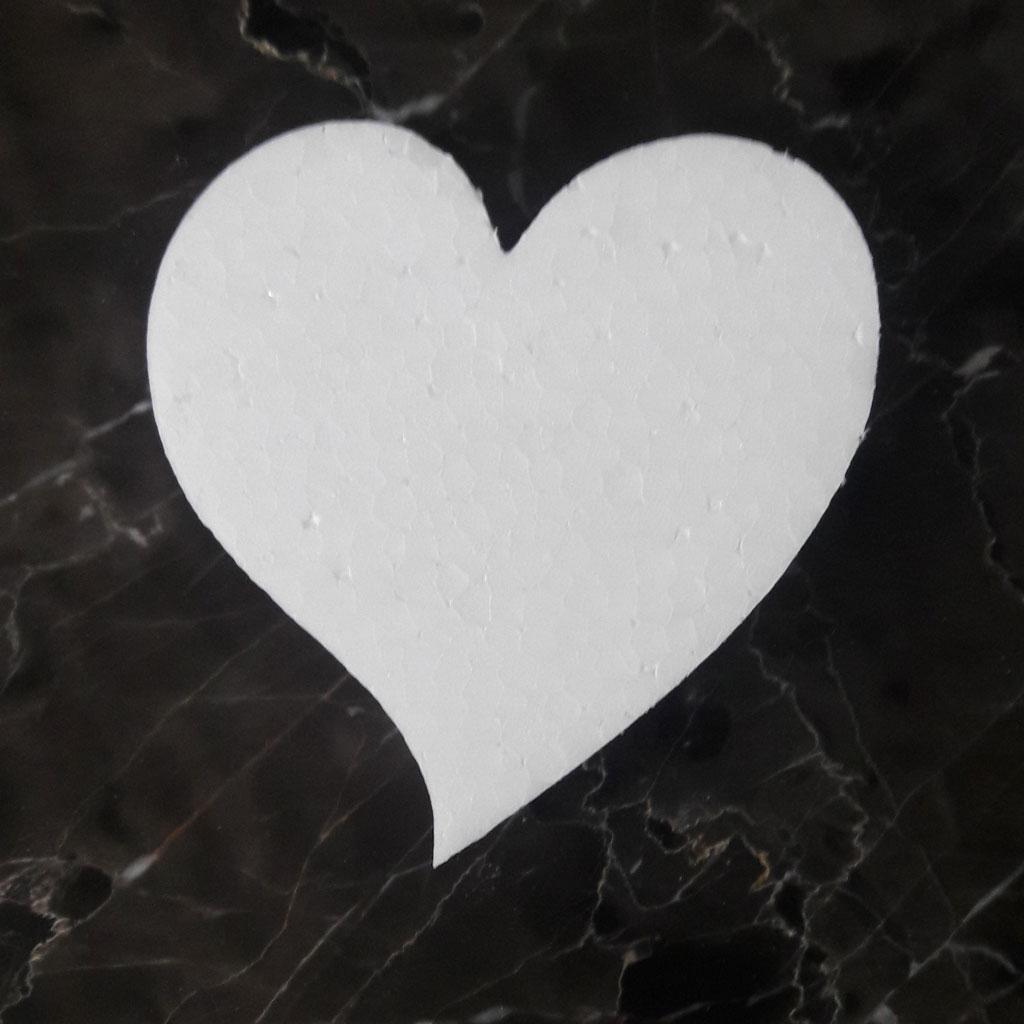 Сердце пенопластовое загнутое 10 см