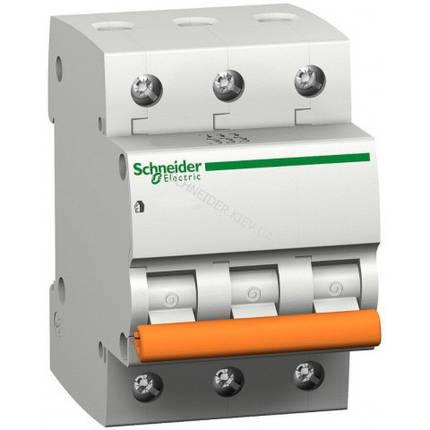 Автоматический выключатель ВА63 3П 25A C Schneider Electric 11225, фото 2