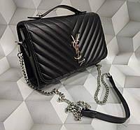 b911b53c744d Женская модная сумка-клатч на цепочке копия YSL Yves Saint Laurent  качественная эко-кожа