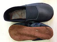 Чешки кожаные черные Vlad&Co