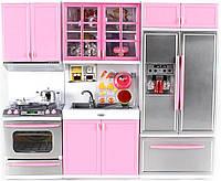 Кукольная кухня Современная кухня Розовая QunFengToys 26210P (26210P)