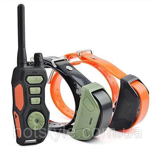 Ошейник электронный для дрессировки ДВУХ собак с ДУ Ipets PET618-1, ПАРА
