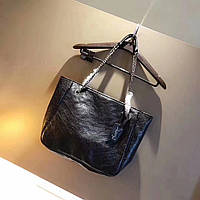 Женская сумка копия YSL Yves Saint Laurent качественная эко-кожа дорогой Китай черная