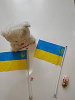 Флажки Украины с гербом на присоске