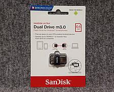 USB флешка 64GB SANDISK ULTRA DUAL 3.0 OTG