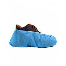 Бахилы одноразовые с усиленным швом, нетканые, голубые, 6 г