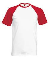 ФУТБОЛКА SHORT SLEEVE BASEBALL T. Цвет белый с красным.