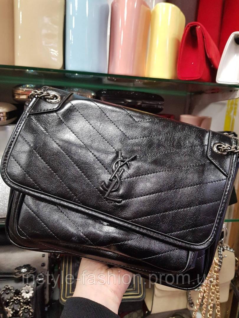 ff10e272eca4 ... фото · Женская сумка-клатч копия YSL Yves Saint Laurent качественная эко -кожа коричневая, фото