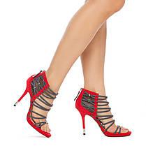Босоножки Shoe Dazzle Womens Hona Red Grey, фото 3