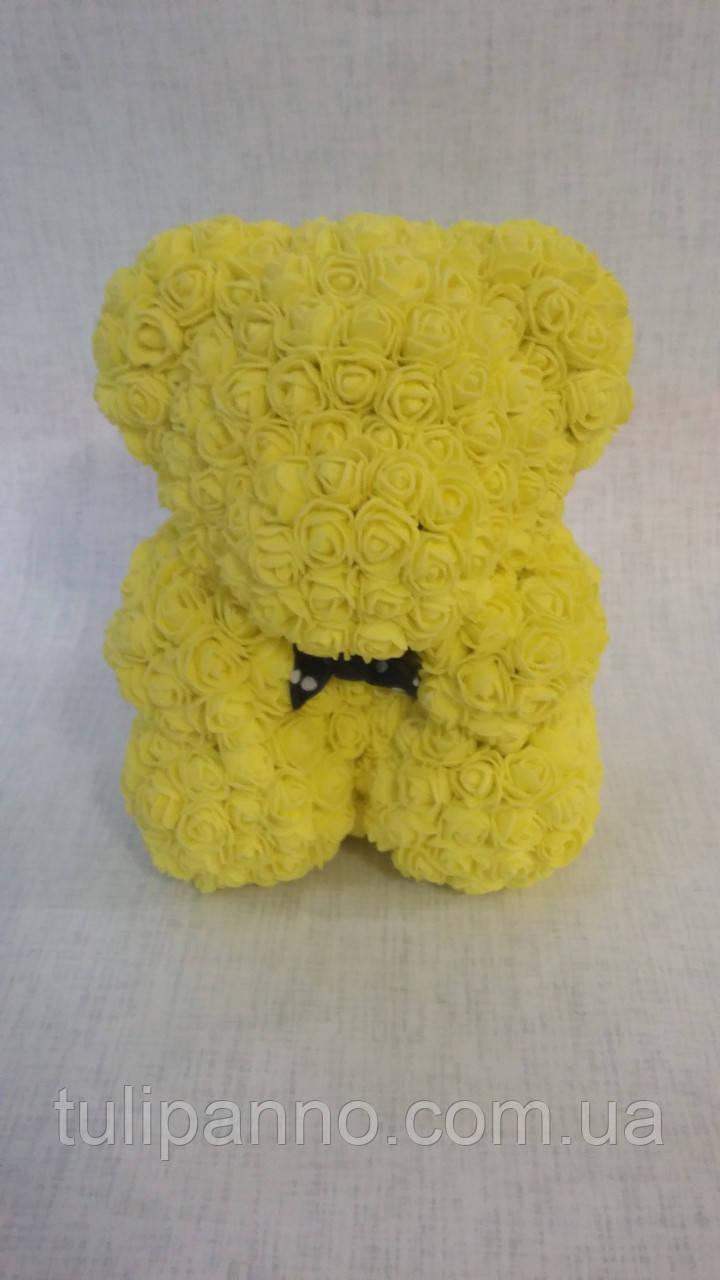 Мишка из роз маленький (желтый)