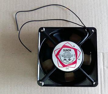 Вентилятор осьовий універсальний SUNON DP200A / 120мм*120мм*38мм / 220-240V / 0,14 А / 17W (КВАДРАТНИЙ)