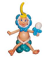 Малыш (сидит), фигура из воздушных шариков