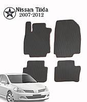 Коврики полимерные в салон  Nissan Tiida 2007-2012 (4 шт) материал EVА