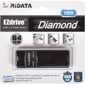 Флешка USB 3.0 64Gb Ridata Black HD9                                    962569/6418350