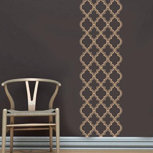 Интерьерная виниловая наклейка узор Марокко (самоклеющийся орнамент)