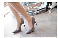 Замшевые туфли с заклепками каблук 10,5 см  4 цвета, фото 1
