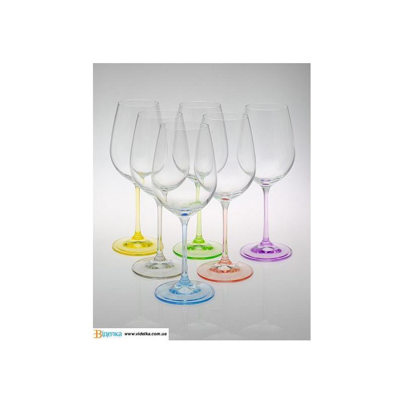 """Набор бокалов для вина """"Rainbow"""", 350ml, 40729350SD4641 /П2"""