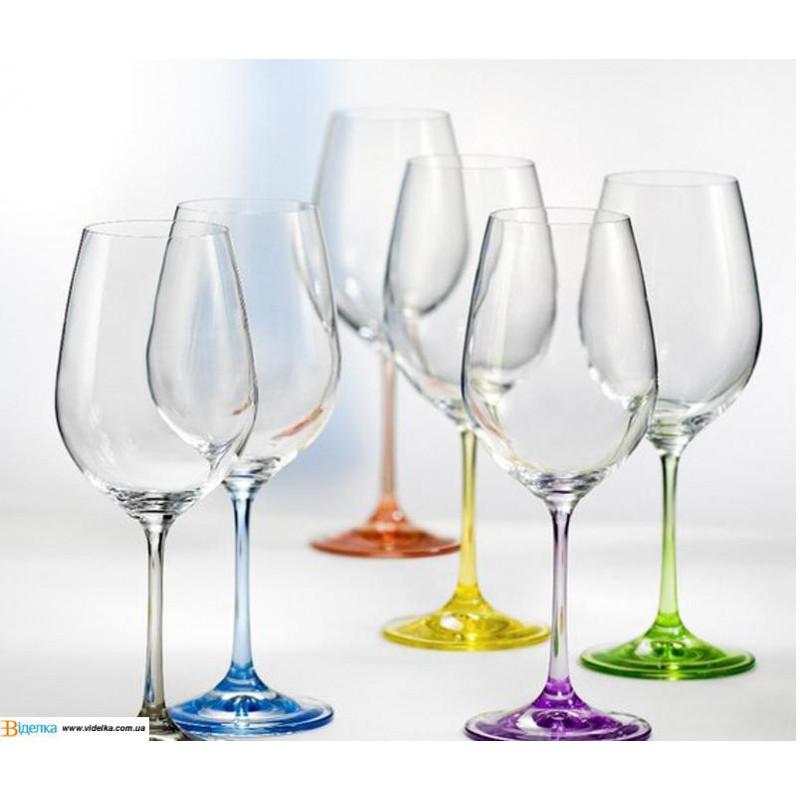 """Набор бокалов для вина """"Rainbow"""", 550ml, 40729550SD4641 /П2"""