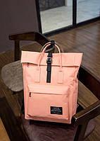 Рюкзак Rolltop(роллтоп) для ноутбука персиковый