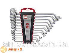 Набір ключів накидних 12 од., 6-32 мм Cr-V INTERTOOL HT-1103