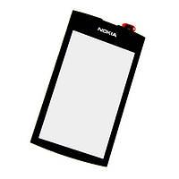 Тачскрин сенсор Nokia 305, 306 черный (проклейка)