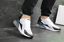 Мужские кроссовки Nike Air Max 270 сетка,белые с черным 40р, фото 3