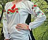 Стильная женская рубашка белого цвета вышитая гдаддю