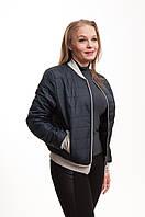 Куртка женская бомбер весна-осень полуботал