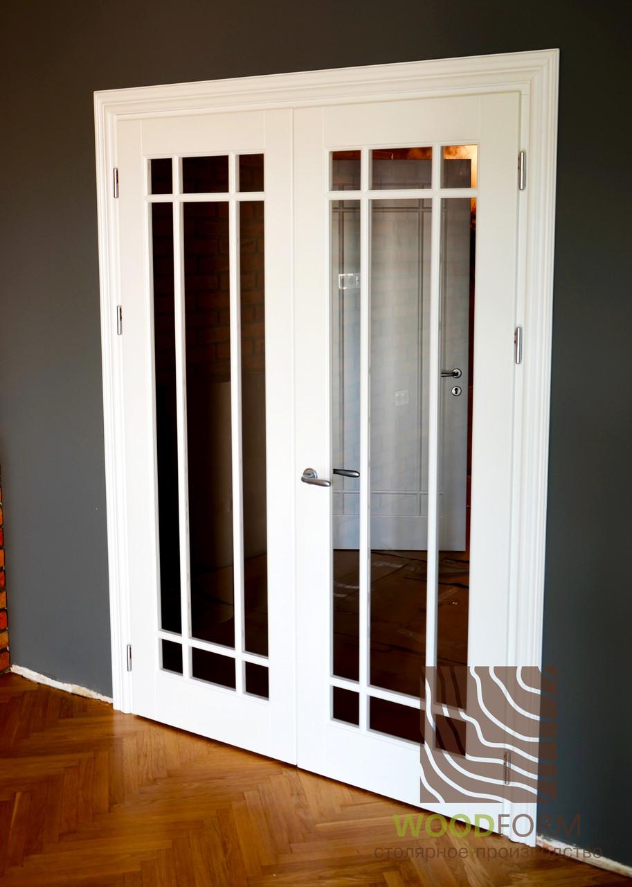 Межкомнатные двери Клен, цвет белый матовый. Серия 40