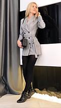 """Короткое платье-пиджак в клетку """"Simona"""" с поясом и длинным рукавом, фото 3"""