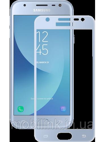 Защитное стекло Global TG для Samsung Galaxy J3 (2017) J330 Blue