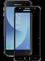 Защитное стекло Global TG для Samsung Galaxy J3 (2017) J330 Black, фото 1