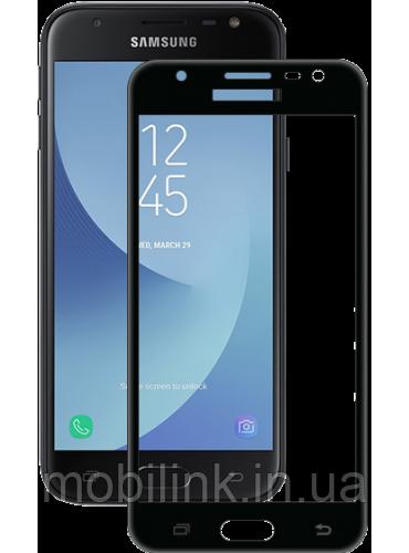 Защитное стекло Global TG для Samsung Galaxy J3 (2017) J330 Black