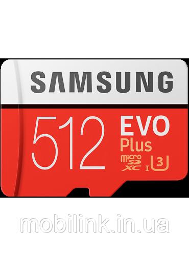 Карта памяти Samsung microSDXC 512GB EVO Plus Class 10 UHS-I U3 (MB-MC512GA/RU)