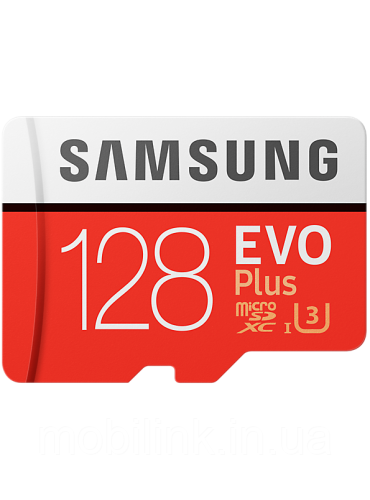 Карта памяти Samsung microSDXC 128GB EVO Plus Class 10 UHS-I U3 (MB-MC128GA/RU)