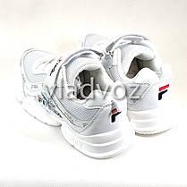 Детские кроссовки для девочки белые 33р., фото 3
