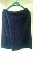 Парео банное махровое (70*140см) темно-синее