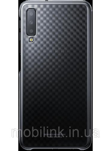 Чехол Samsung Gradation Cover Black для Galaxy A7 (2018) A750
