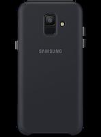 Чехол Samsung Dual Layer Cover Black для Galaxy A6 A600, фото 1