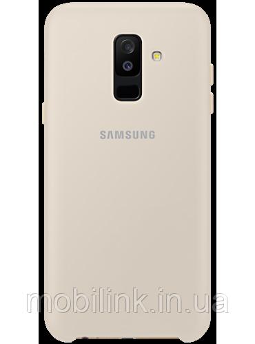 Чехол Samsung Dual Layer Cover Gold для Galaxy A6+ A605