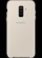 Чехол Samsung Dual Layer Cover Gold для Galaxy A6+ A605, фото 1