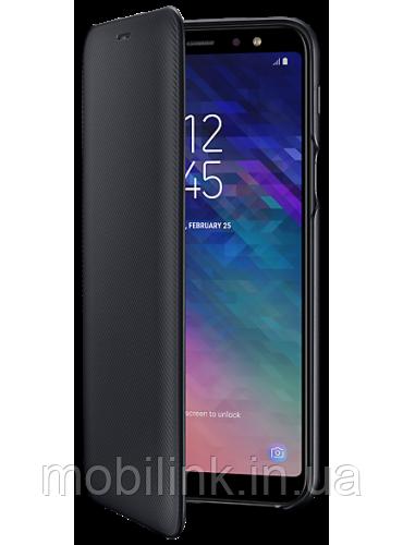 Чехол Samsung Wallet Cover Black для Galaxy A6+ A605