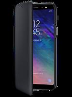 Чехол Samsung Wallet Cover Black для Galaxy A6+ A605, фото 1