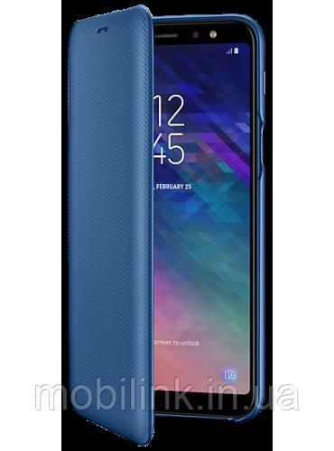 Чехол Samsung Wallet Cover Blue для Galaxy A6+ A605