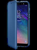 Чехол Samsung Wallet Cover Blue для Galaxy A6+ A605, фото 1