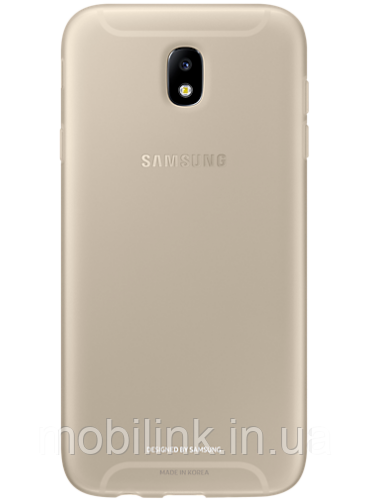 Чехол Samsung Jelly Cover EF-AJ730TFEGRU Gold для Galaxy J7 (2017) J730