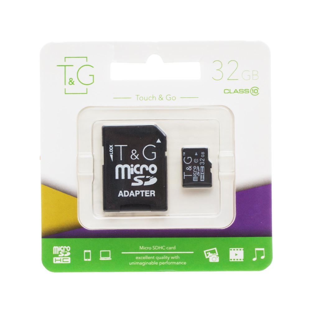 Карта памяти micro TG 32GB class 10 (c адаптером)