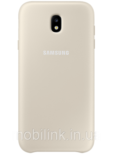 Чехол Samsung Dual Layer Cover EF-PJ730CFEGRU Gold для Galaxy J7 (2017) J730